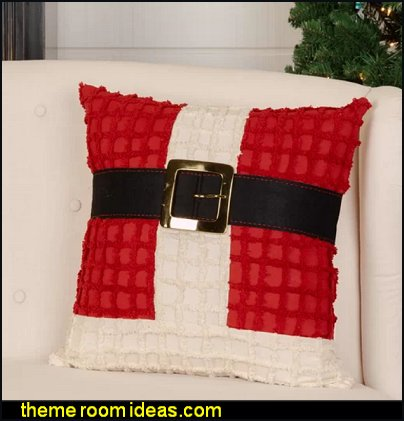 Keiser Chenille Christmas Santa Suit Throw Pillow christmas pillows