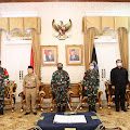 Kasrem 061/Sk Dampingi Pangdam III/ Siliwangi Hadiri Pembukaan TMMD ke-III di Cianjur
