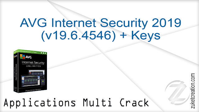AVG Internet Security 2019 (v19.6.4546) + Keys    |  364 MB