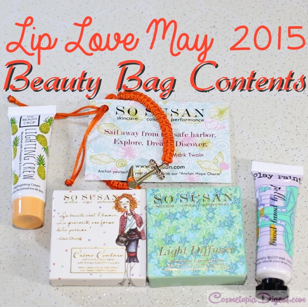 So Susan Lip Love Beauty Bag May 2015 review