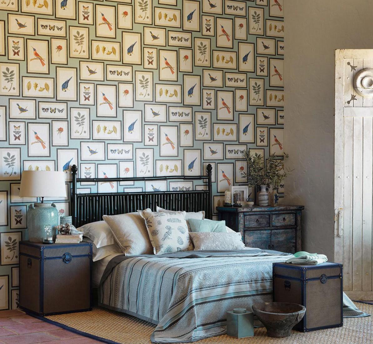 Papel de parede para quartos reciclar e decorar blog de decora o e reciclagem - Tappezzeria camera da letto ...