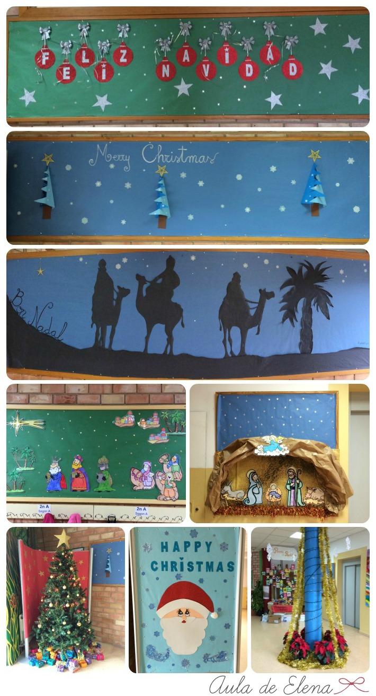 Decoraci n de navidad aula de elena for Ornamentacion para navidad