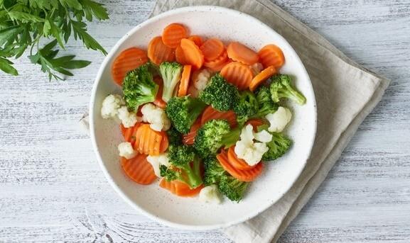 legumes cozidos a vapor