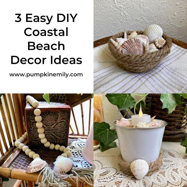 Three coastal and beach decoration ideas.