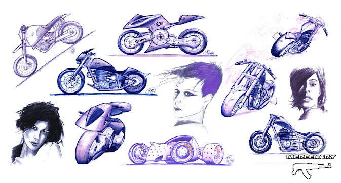 Sketches - Bikes and Girls