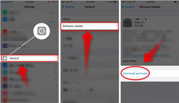 update iphone software ios 11