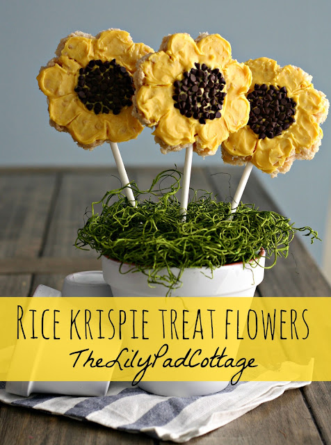 rice krispie treat flowers