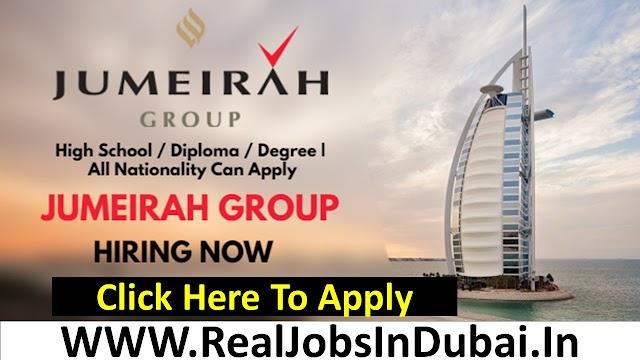 Jumeirah Group Hiring Staff In Dubai  UAE 2021