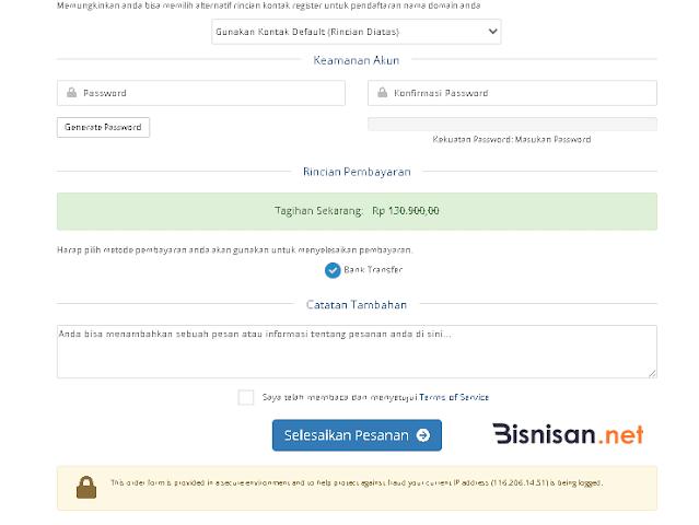 data pendaftar domain