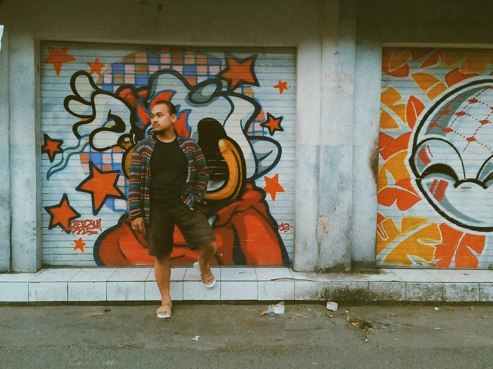 Menyusuri Prawirotaman Jogja : Hidup Ketika Pagi, Redup Kala Malam Menanti - Mural Prawirotaman