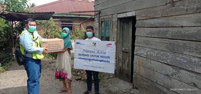 PT.ASTRA Melalui PT PAMA Berikan Bantuan 100 Paket Sembako Masyarakat Isoman