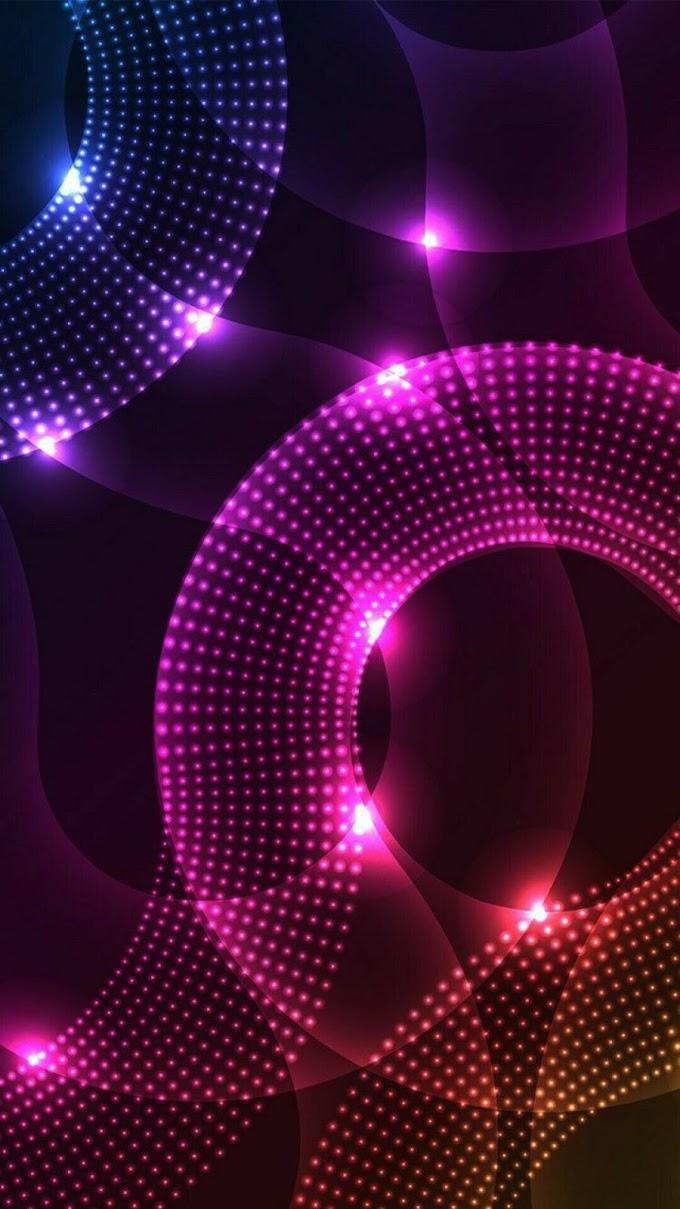 Esferas Luzes Neon Papel De Parede Celular
