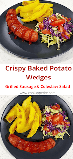 This easy recipe for crispy baked potato wedges is fantastic with garlic parmesan flavor. It's a fantastic appetizer or side dish. These wedges are loaded with parmesan cheese and garlic, a perfect crispy garlic potato wedges with parmesan cheese.