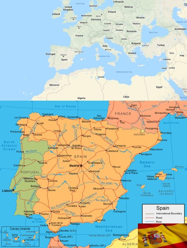 peta negara spanyol