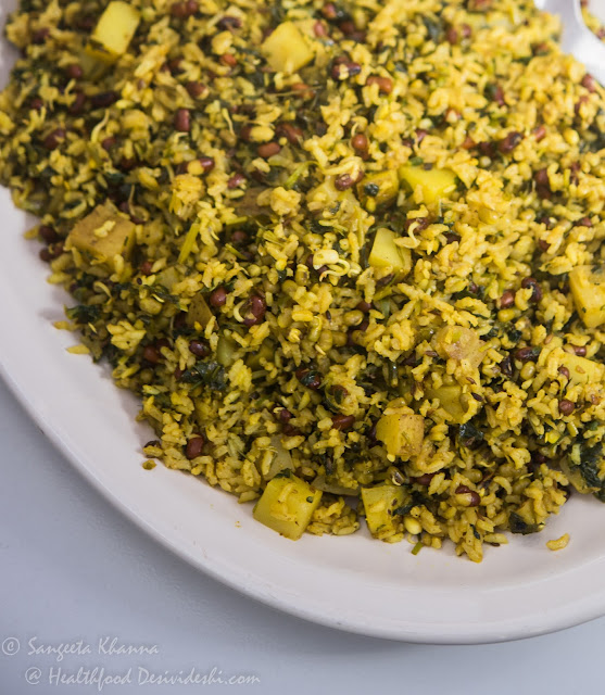 mixed sprouts and fenugreek tahiri