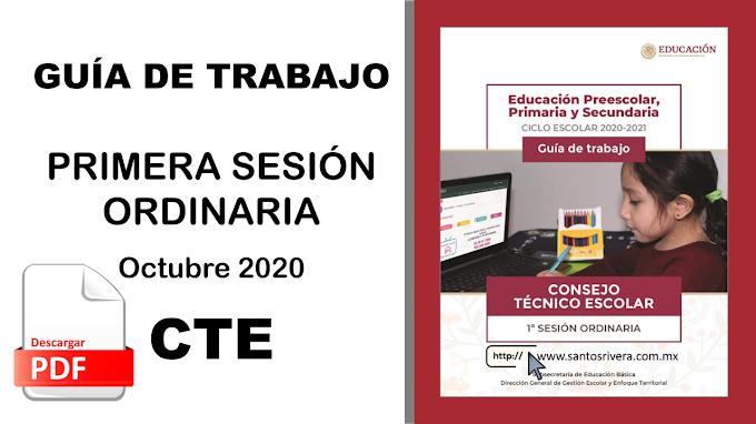 Guía de la Primera Sesión Ordinaria del Consejo Técnico Escolar (CTE) - Octubre 2020