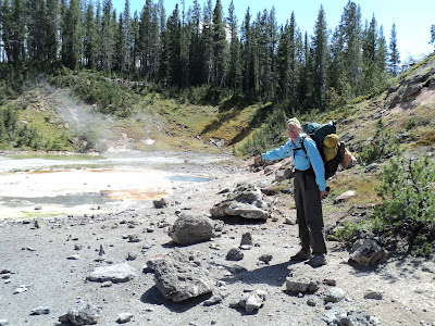 Backpacking Yellowstone in Shoshone Geyser basin
