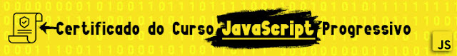 Curso JavaScript Progressivo com certificado