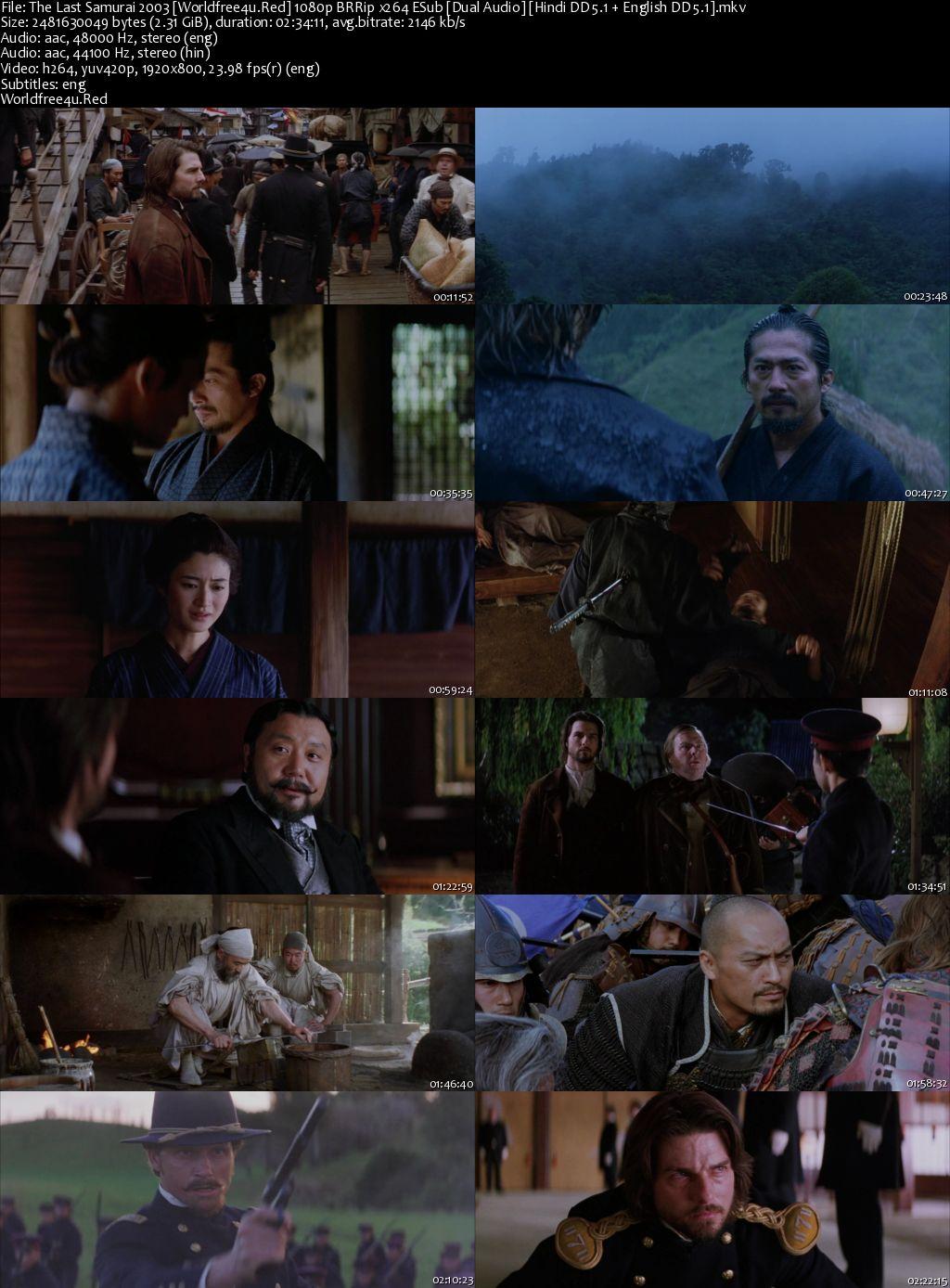 The Last Samurai 2003 BRRip 1080p Dual Audio