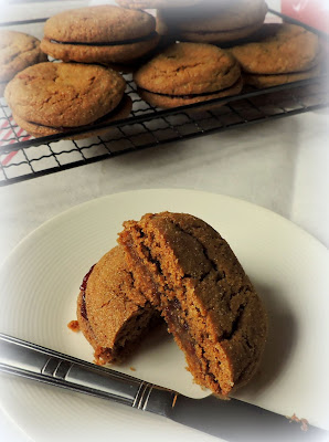 Ginger & Jam Sandwich Cookies