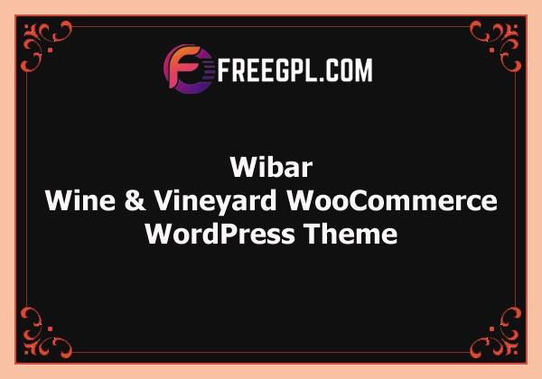 Wibar   Wine and Vineyard WooCommerce WordPress Theme Free Download