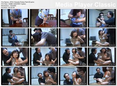 police woman arresting man