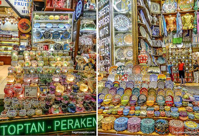 Barracas do Bazar Egípcio de Istambul