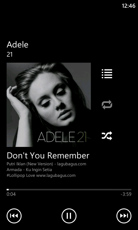 Music Player Android Windows Phone 8