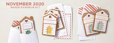 November 2020 Jolly Gingerbread Paper Pumpkin #stampinup #paperpumpkin
