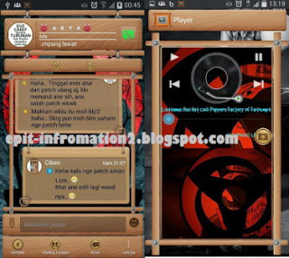 BBM for Android Mod Versi 2.8.0.21 Wood Style
