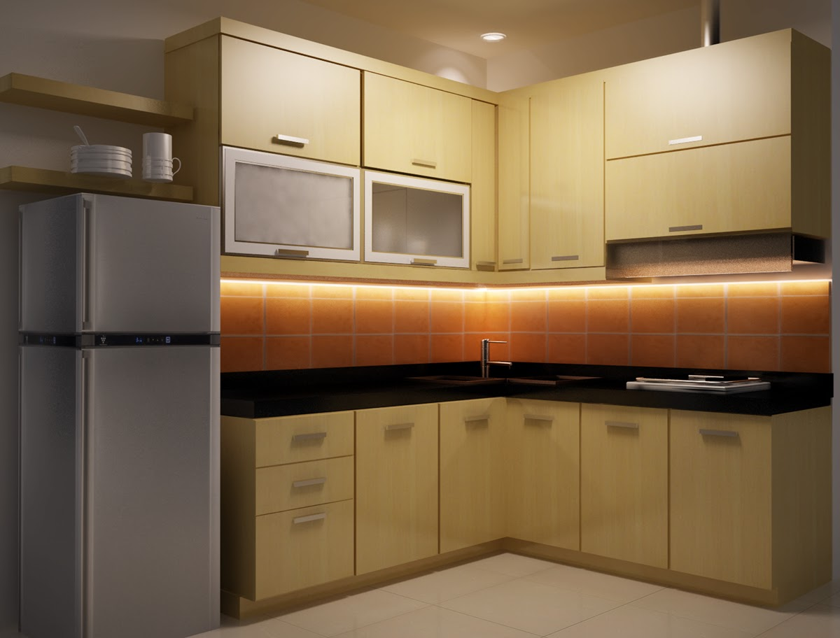 Idesign arsitektur kombinasi warna kontras untuk dapur for Kitchen set hijau