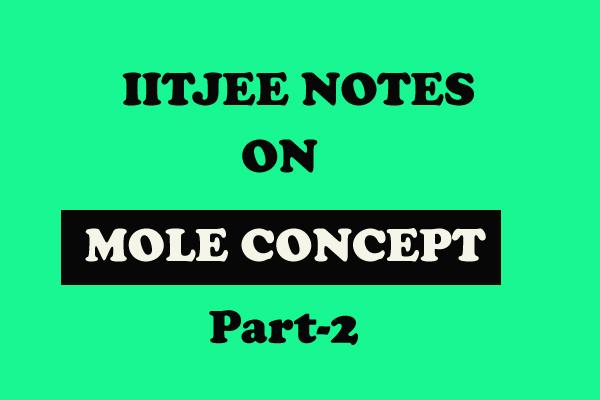 Mole Concept Notes
