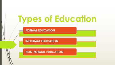 education types formal education informal education non formal education