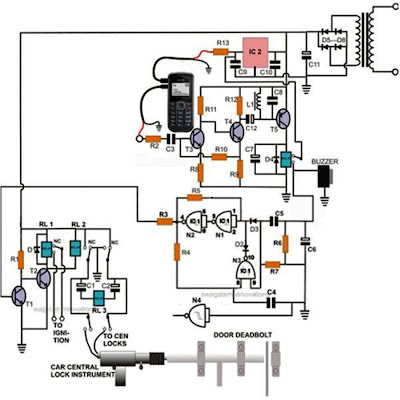 Cell Phone Controlled Door Lock Circuit ~ Electronic