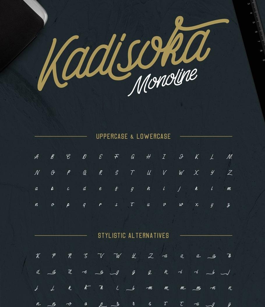 Download Download Kadisoka Script Font   Free Script Fonts