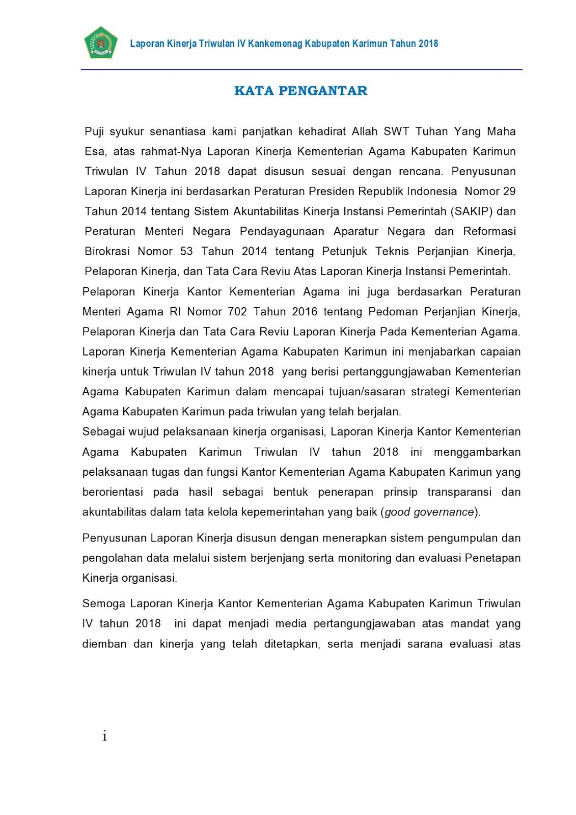 3 E Laporan Akuntabilitas Kinerja Kantor Kemenag Kabupaten Karimun Tahun 2016 Dan 2017
