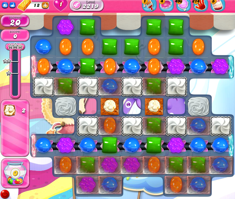Candy Crush Saga level 2219