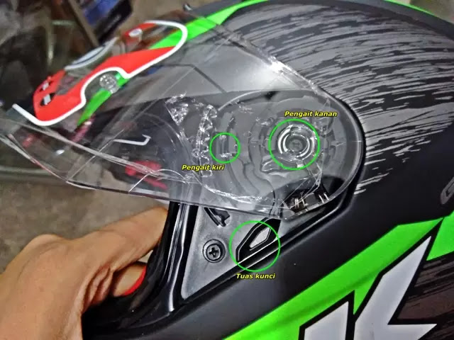 Tutorial melepas dan memasang visor NHK GP 1000