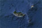 Archipiélago de Madeira, a vista de satélite