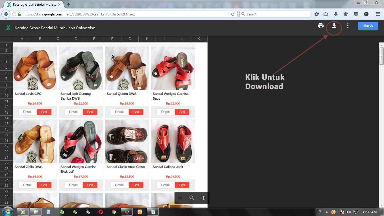 Katalog Grosir Sandal Jepit Murah Online