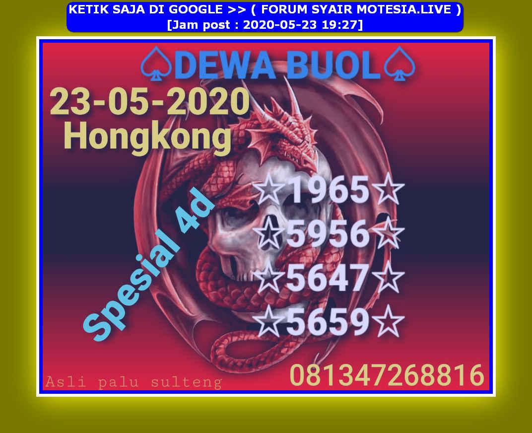 Kode syair Hongkong Sabtu 23 Mei 2020 38