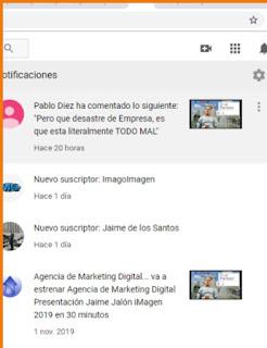 Canal YouTube Jalon iMagen Notificaciones