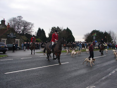 Fox hunters and their dogs