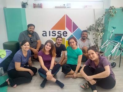 Profesionales del Centro Sinergia con los fisioterapeutas argentinos