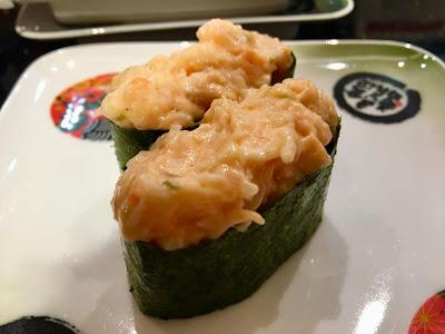 金沢まいもん寿司のえびオーロラサラダ軍艦