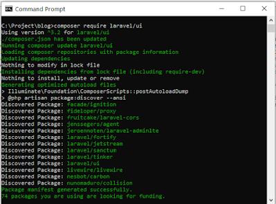 Integrasi Laravel 8.x dengan AdminLTE