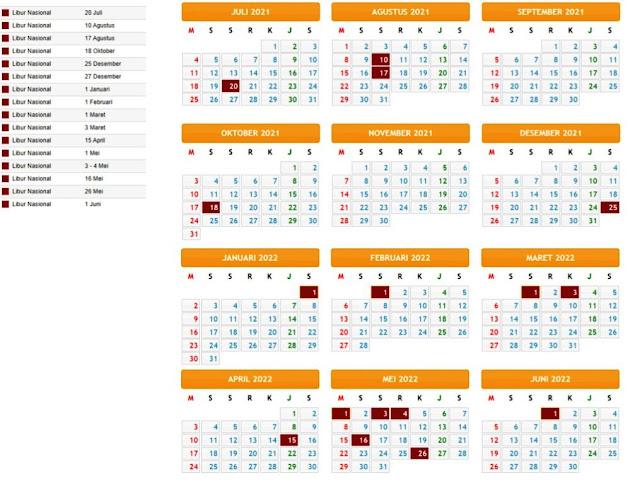 Terbaru Kalender Pendidikan Tahun Pelajaran 2021/2022 Provinsi Sulawesi Barat