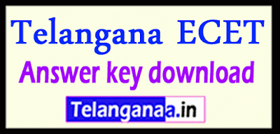 Telangana ECET Answer key 2019 download