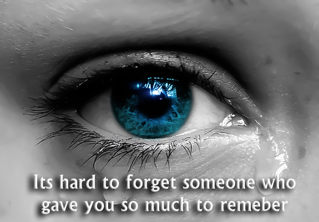 Heart touching love with tears