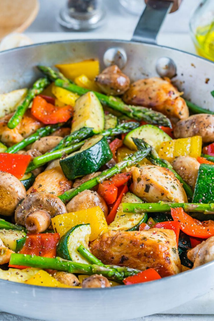 ONE PAN ITALIAN CHICKEN SKILLET IS A NEW 20 MINUTES DINNER IDEA